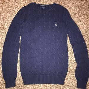 Navy Ralph Lauren sweater size medium.